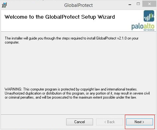 install globalprotect win 07